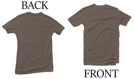 Grey Savana Back Front Mock Up Tshirt Reklamní fotografie