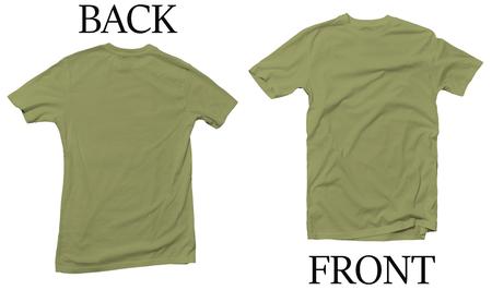 Green Kiwi Back Front Mock Up Tshirt