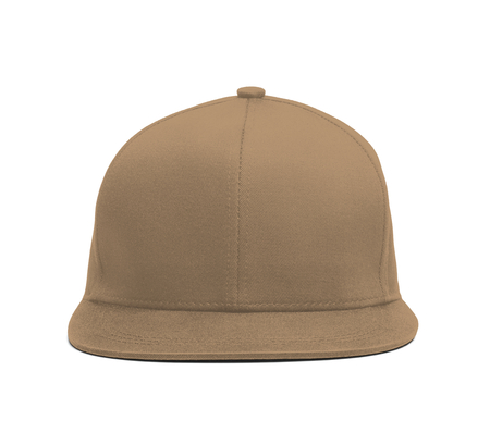 A modern Snapback Front Cap MockUp In Iced Coffee Color to help you present your hat designs beautifully. You can customize almost everything in this hat mockup to match your cap design.