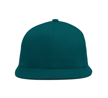 A modern Snapback Front Cap MockUp In Shaded Spruce Color to help you present your hat designs beautifully. You can customize almost everything in this hat mockup to match your cap design. 写真素材