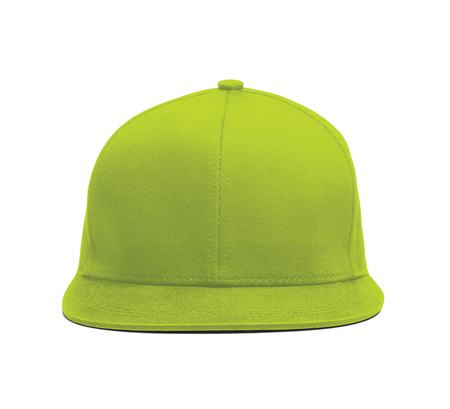 A modern Snapback Front Cap MockUp In Lime Punch Color to help you present your hat designs beautifully. You can customize almost everything in this hat mockup to match your cap design.