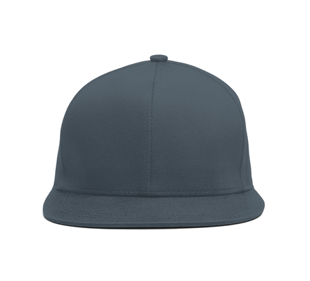 A modern Snapback Front Cap MockUp In Stormy Weather Color to help you present your hat designs beautifully. You can customize almost everything in this hat mockup to match your cap design.