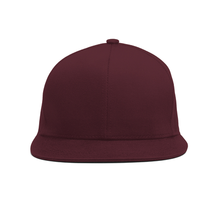 A modern Snapback Front Cap MockUp In Tawny Port Color to help you present your hat designs beautifully. You can customize almost everything in this hat mockup to match your cap design.