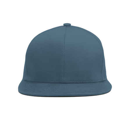 A modern Snapback Front Cap MockUp In Blue Stone Color to help you present your hat designs beautifully. You can customize almost everything in this hat mockup to match your cap design. Stock fotó