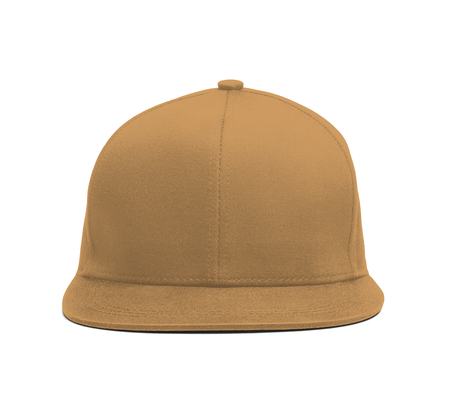 A modern Snapback Front Cap MockUp In Oak Buff Color to help you present your hat designs beautifully. You can customize almost everything in this hat mockup to match your cap design.