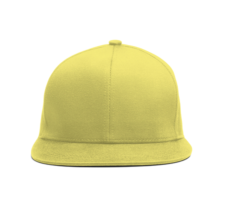 A modern Snapback Front Cap MockUp In Lemon Verbena Color to help you present your hat designs beautifully. You can customize almost everything in this hat mockup to match your cap design.