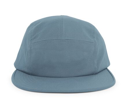 A modern Cool Guy Cap Mock Up In Blue Stone Color to help you present your hat designs beautifully. You can customize almost everything in this hat mockup to match your cap design.