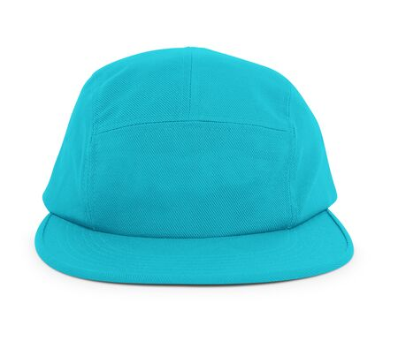 A modern Cool Guy Cap Mock Up In Scuba Blue Color to help you present your hat designs beautifully. You can customize almost everything in this hat mockup to match your cap design.