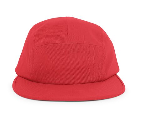 A modern Cool Guy Cap Mock Up In Flame Scarlet Color to help you present your hat designs beautifully. You can customize almost everything in this hat mockup to match your cap design.