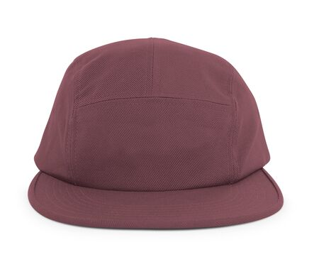 A modern Cool Guy Cap Mock Up In Tawny Port Color to help you present your hat designs beautifully. You can customize almost everything in this hat mockup to match your cap design.