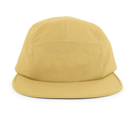 A modern Cool Guy Cap Mock Up In Misted Yellow Color to help you present your hat designs beautifully. You can customize almost everything in this hat mockup to match your cap design.