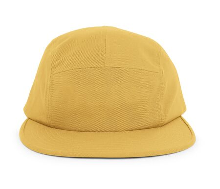 A modern Cool Guy Cap Mock Up In Spicy Mustard Color to help you present your hat designs beautifully. You can customize almost everything in this hat mockup to match your cap design.