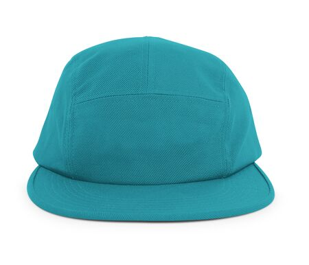 A modern Cool Guy Cap Mock Up In Biscay Bay Color to help you present your hat designs beautifully. You can customize almost everything in this hat mockup to match your cap design.