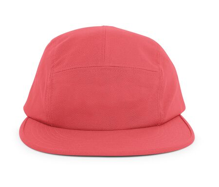 A modern Cool Guy Cap Mock Up In Red Cayenne Color to help you present your hat designs beautifully. You can customize almost everything in this hat mockup to match your cap design.