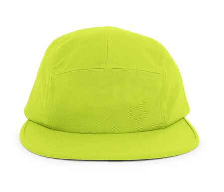 A modern Cool Guy Cap Mock Up In Lime Punch Color to help you present your hat designs beautifully. You can customize almost everything in this hat mockup to match your cap design.