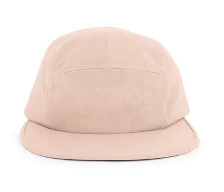 A modern Cool Guy Cap Mock Up In Creme de Peche Color to help you present your hat designs beautifully. You can customize almost everything in this hat mockup to match your cap design.