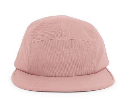 A modern Cool Guy Cap Mock Up In Mellow Rose Color to help you present your hat designs beautifully. You can customize almost everything in this hat mockup to match your cap design.