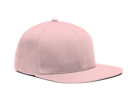 A highly dimension Side View Snapback Cap Mock Up In Rose Quartet Color to help you present your hat designs beautifully. You can customize almost everything in this modern mockup to match your cap design. Stock Photo