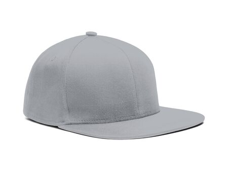 A highly dimension Side View Snapback Cap Mock Up In Harbor Mist Color to help you present your hat designs beautifully. You can customize almost everything in this modern mockup to match your cap design.