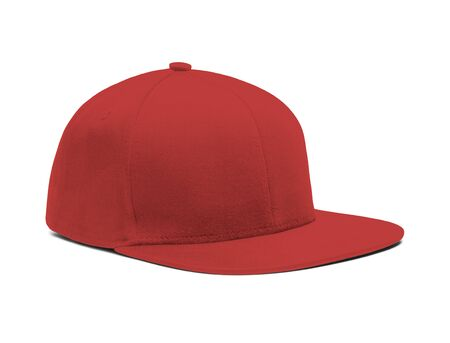 A highly dimension Side View Snapback Cap Mock Up In Valiant Poppy Color to help you present your hat designs beautifully. You can customize almost everything in this modern mockup to match your cap design.