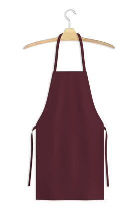 Showcase your design with this Sweet Apron Mock Up In Tawny Port Color. A realistic look and high resolution mock up to help you present your designs beautifully. Stockfoto