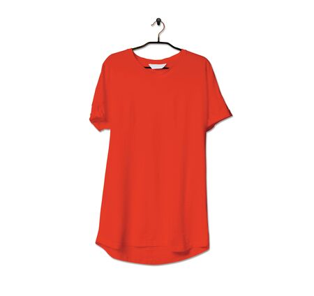 Grab this impressive Realistic Tshirt Mock Up In Cherry Tomato Color to give a boost to your brand logo. This mock up are highly Perfect for showcasing your artwork.