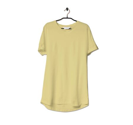 Grab this impressive Realistic Tshirt Mock Up In Yellow Custard Color to give a boost to your brand logo. This mock up are highly Perfect for showcasing your artwork.