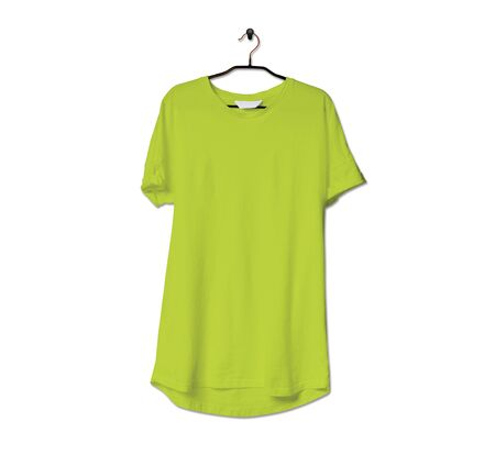 Grab this impressive Realistic Tshirt Mock Up In Lime Punch Color to give a boost to your brand logo. This mock up are highly Perfect for showcasing your artwork.
