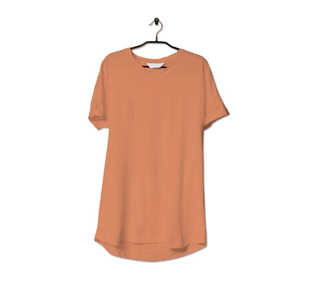 Grab this impressive Realistic Tshirt Mock Up In Copper Tan Color to give a boost to your brand logo. This mock up are highly Perfect for showcasing your artwork.