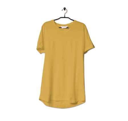Grab this impressive Realistic Tshirt Mock Up In Spicy Mustard Color to give a boost to your brand logo. This mock up are highly Perfect for showcasing your artwork. 写真素材