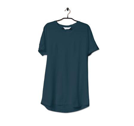 Grab this impressive Realistic Tshirt Mock Up In Reflecting Pond Color to give a boost to your brand logo. This mock up are highly Perfect for showcasing your artwork.