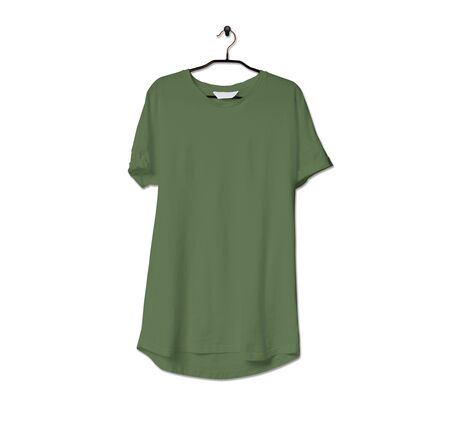 Grab this impressive Realistic Tshirt Mock Up In Green Kale Color to give a boost to your brand logo. This mock up are highly Perfect for showcasing your artwork.