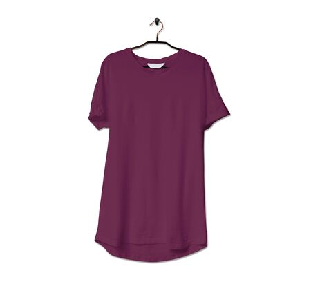 Grab this impressive Realistic Tshirt Mock Up In Magenta Purple Color to give a boost to your brand logo. This mock up are highly Perfect for showcasing your artwork. 写真素材