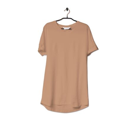 Grab this impressive Realistic Tshirt Mock Up In Toast Brown Color to give a boost to your brand logo. This mock up are highly Perfect for showcasing your artwork.
