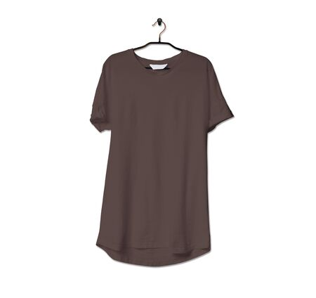 Grab this impressive Realistic Tshirt Mock Up In Chicory Coffee Color to give a boost to your brand logo. This mock up are highly Perfect for showcasing your artwork.