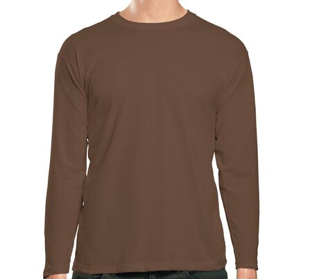 This high resolution Front View Long Sleeve Tshirt Mock Up In Royal Brown Color will make your design as photorealistic result in mere minutes. Showcase your designs like a pro.
