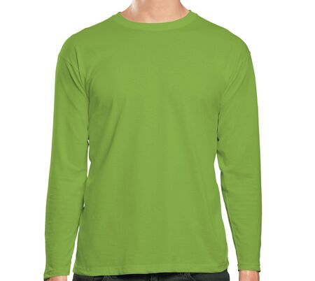 This high resolution Front View Long Sleeve Tshirt Mock Up In Classy Greenery Color will make your design as photorealistic result in mere minutes. Showcase your designs like a pro.