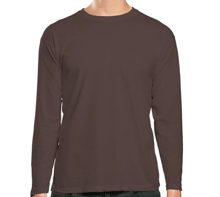 This high resolution Front View Long Sleeve Tshirt Mock Up In Chicory Coffee Color will make your design as photorealistic result in mere minutes. Showcase your designs like a pro. Zdjęcie Seryjne