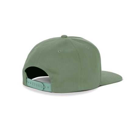 A blank Back View Dancer Cap Mock Up In Cypress Green Color up to help your designs beautifully. Promote your hat brand across with this high resolution Mock up.