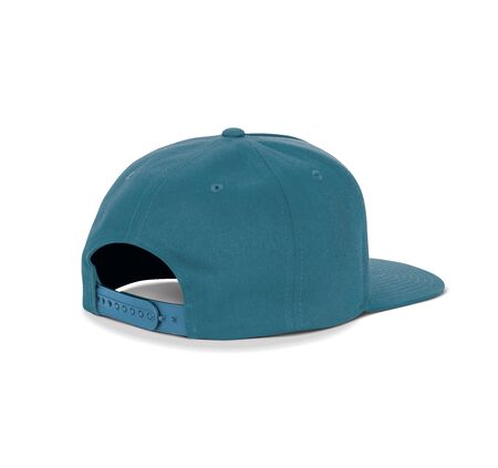 A blank Back View Dancer Cap Mock Up In Reflecting Pond Color up to help your designs beautifully. Promote your hat brand across with this high resolution Mock up.