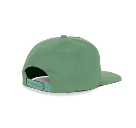 A blank Back View Dancer Cap Mock Up In Green Kale Color up to help your designs beautifully. Promote your hat brand across with this high resolution Mock up. Stock Photo