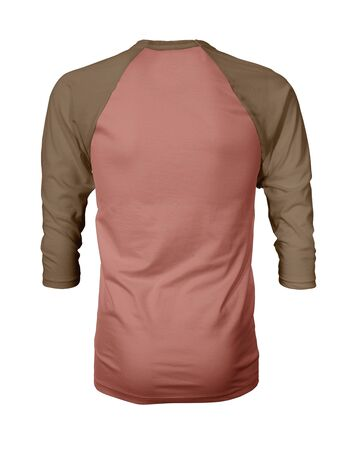 Showcase your own designs like a graphic design pro, by adding your beauty design to this Back View Three Quarter Sleeves Baseball Tshirt Mock Up In Summer Fig Color templates.