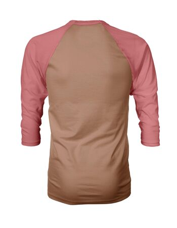 Showcase your own designs like a graphic design pro, by adding your beauty design to this Back View Three Quarter Sleeves Baseball Tshirt Mock Up In Sand Stone Color templates.