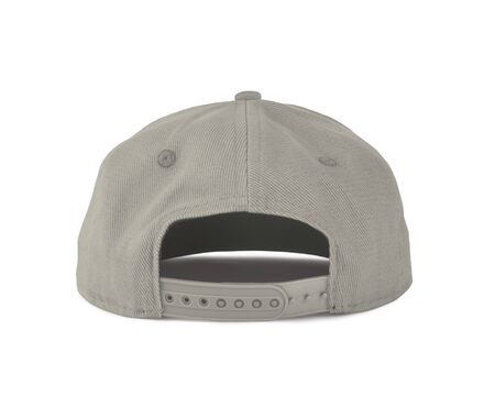 Add your graphic into this Back View Snapback Cap Mock Up In White Tofu Color as well as you like, You can customize almost everything in this image.