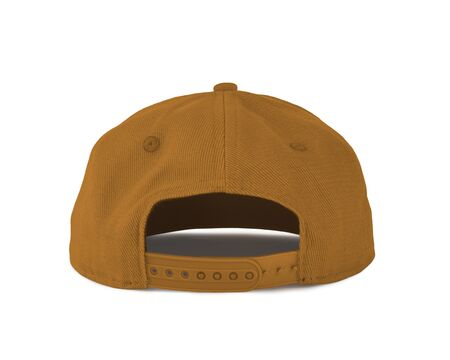 Add your graphic into this Back View Snapback Cap Mock Up In Butter Scotch Color as well as you like, You can customize almost everything in this image. Imagens
