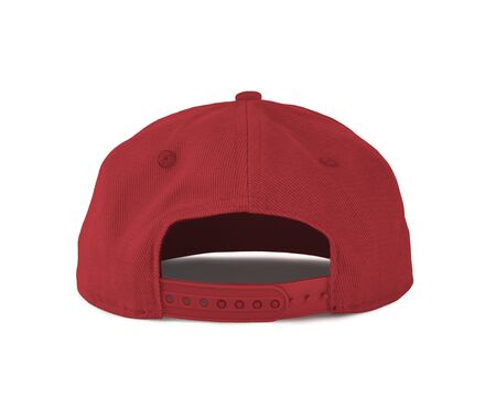 Add your graphic into this Back View Snapback Cap Mock Up In Red Cayenne Color as well as you like, You can customize almost everything in this image.
