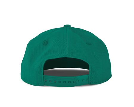 Add your graphic into this Back View Snapback Cap Mock Up In Blue Arcadia Color as well as you like, You can customize almost everything in this image.