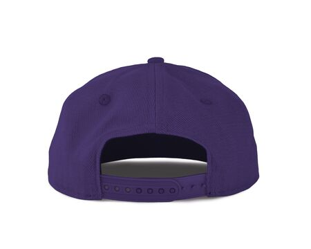 Add your graphic into this Back View Snapback Cap Mock Up In Ultra Violet Color as well as you like, You can customize almost everything in this image. 写真素材