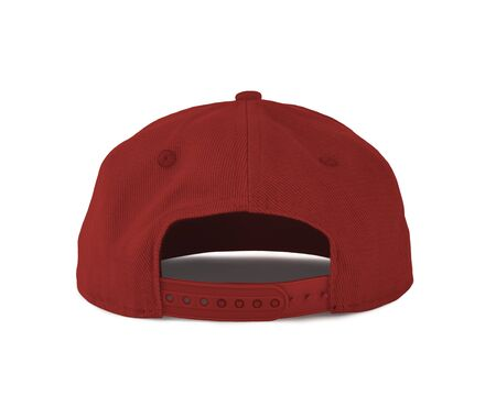 Add your graphic into this Back View Snapback Cap Mock Up In Valiant Poppy Color as well as you like, You can customize almost everything in this image. Imagens