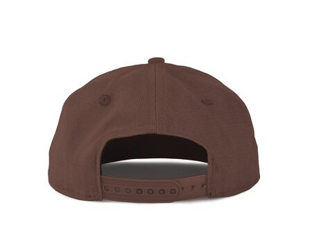 Add your graphic into this Back View Snapback Cap Mock Up In Cognac Flavor Color as well as you like, You can customize almost everything in this image.